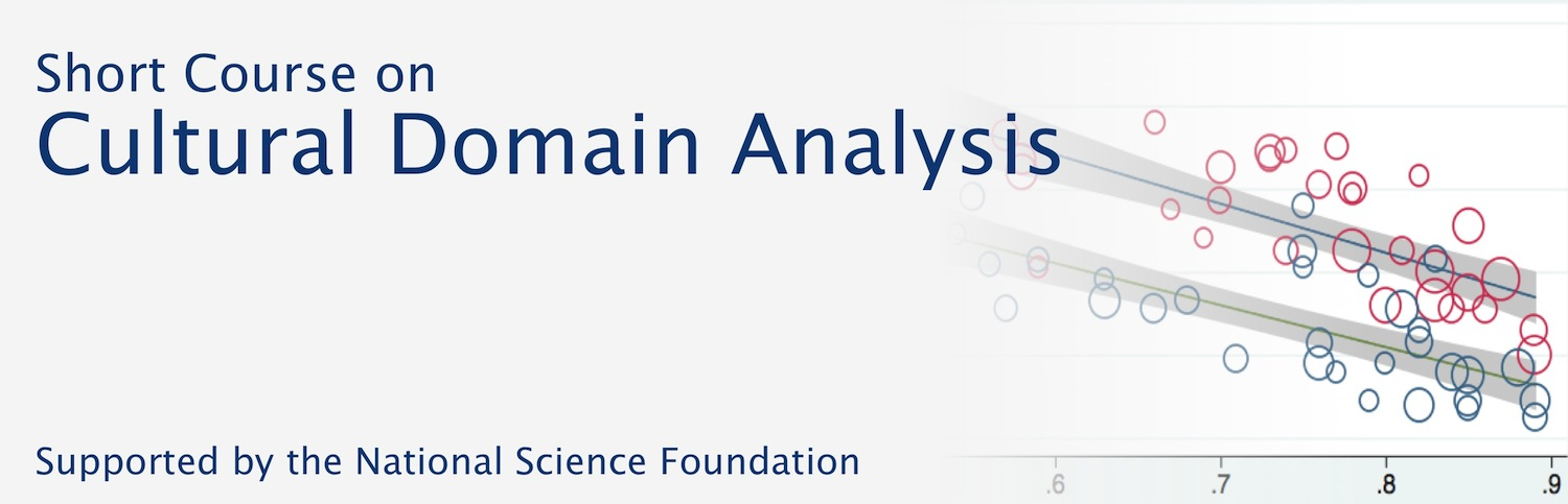 Short Course on Cultural Domain Analysis