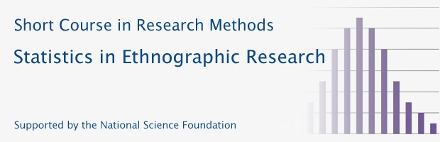Short Course on Statistics in Ethnographic Research